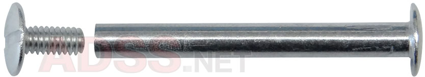 "1-3/4"" Aluminum Screw Posts <font color=177ddd><b>(100 Sets)</b></font>"