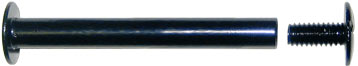 "3-1/2"" Aluminun Screw Posts in Black <span style=""color: #177ddd; font-weight: bold;"">(100 Sets)</span>"
