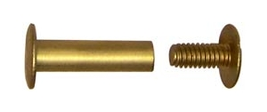 "2"" Aluminum Screw Posts in Antique Brass <span style=""color: #d9821b; font-weight: bold;"">(20 Sets)</span>"