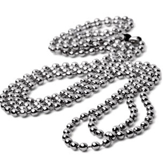 "Metal Bead Chain <span style=""color: #177ddd; font-weight: bold;"">(100 Pieces)</span>"