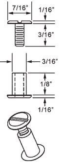 1/8 inch Aluminum Screw Posts (100 Sets)