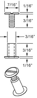 3/16 inch Aluminum Screw Posts (100 Sets)