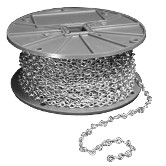 "Metal Jack Chain <span style=""color: #177ddd; font-weight: bold;"">(250' Roll)</span>"