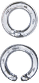 "9/16"" I.D. Clear Plastic Snap Rings <span style=""color: #177ddd; font-weight: bold;"">(100 Rings)</span>"