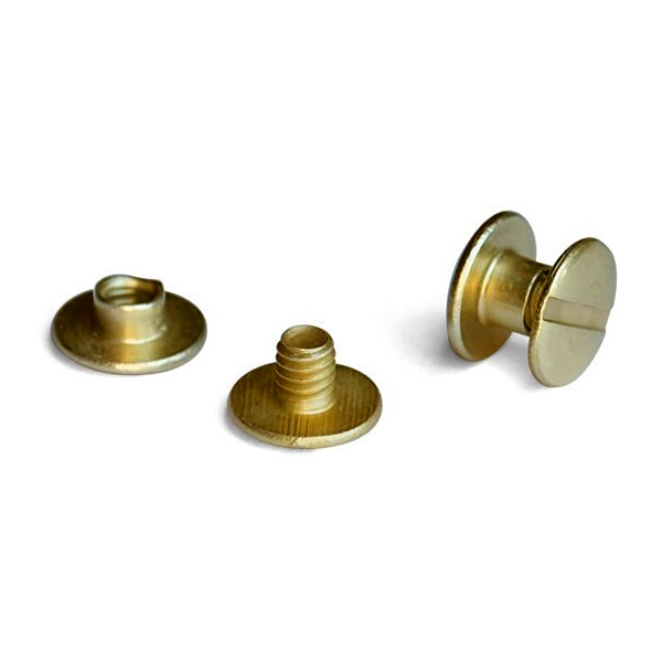 "1/8"" Solid Brass Screw Posts <font color=d9821b><b>(10 Sets)</b></font>"