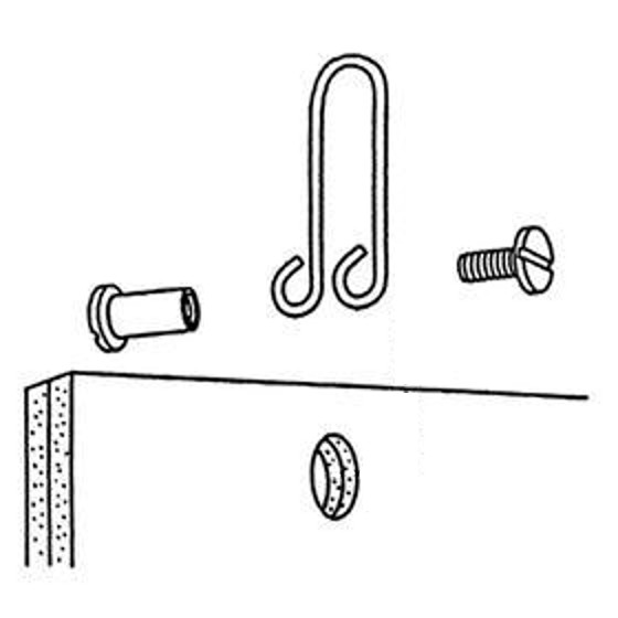 "Metal Loop Hangers <span style=""color: #177ddd; font-weight: bold;"">(100 Pieces)</span>"